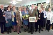 Residents bid farewell to their rector of 12 years at a special presentation.