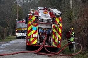 Firefighters tackle barn fire near Winchester