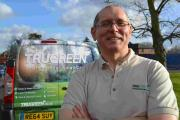 Mike Lethbridge who runs TruGreen lawn service from his Kingsclere home