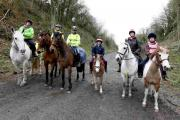 Horse riders on the bridleway last week