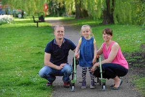 Couple rallying support for new charity fund to buy wheelchair for disabled daughter