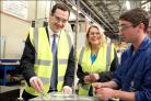 Eastleigh MP Mims Davies, centre, with Chancellor George Osborne