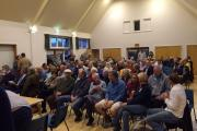 More than 100 residents pack into Upham Village Hall