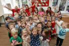 Toddlers bid farewell to Woodhams Day Nursery (photo by Chris Moorhouse)