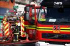 Firefighters battle blaze at Chandler's Ford flat