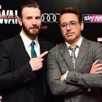 Hampshire Chronicle: Robert Downey Jr and Chris Evans visit Avengers fan with cancer