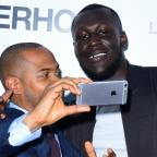 Hampshire Chronicle: Stormzy and Noel Clarke grab a selfie at the world premiere of Brotherhood