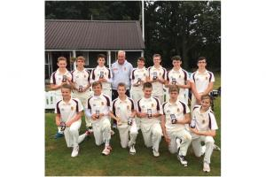 Back row: Louis Motte, Josh Corner, Josh Tombs, Martin Manning, (Coach) Alfie Trodd, James Trodd, Cameron Proctor, Kieran Dunne. Front row: Archie Dunn, Harry Trussler, Ashley Lovell, (Captain) Ollie Rowden, Jack Good, Freddie Taylor