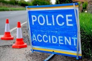 Emergency services called after car crashes off motorway