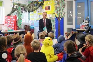 MP visits school to read for World Book Day