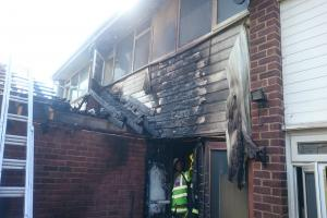 Firefighters tackling house blaze
