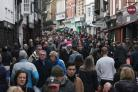 Shoppers in Winchester High Street