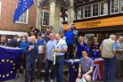 EU supporters gathered for a day of action in Winchester High Street.