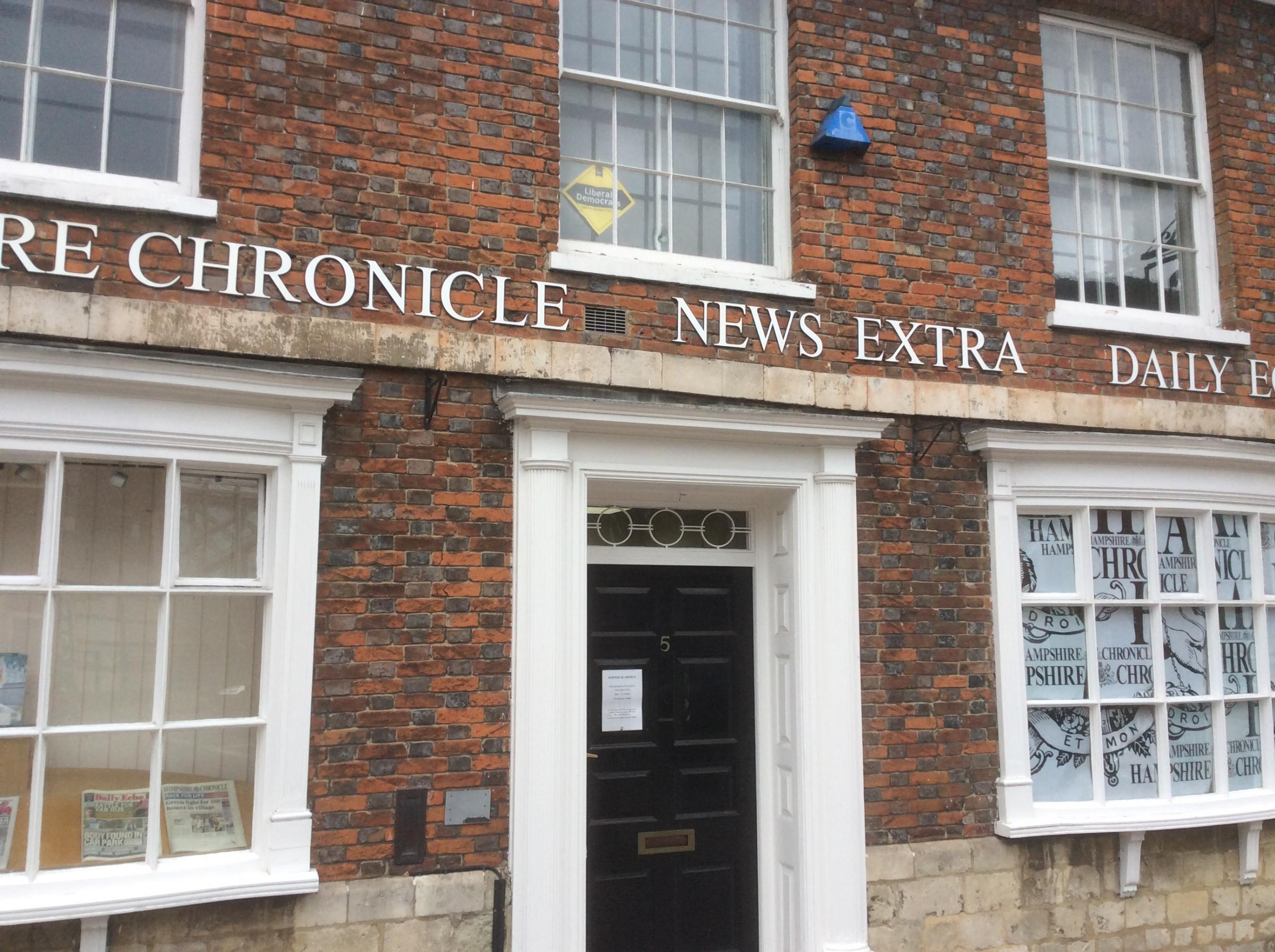 Chronicle office at 5 Upper Brook Street