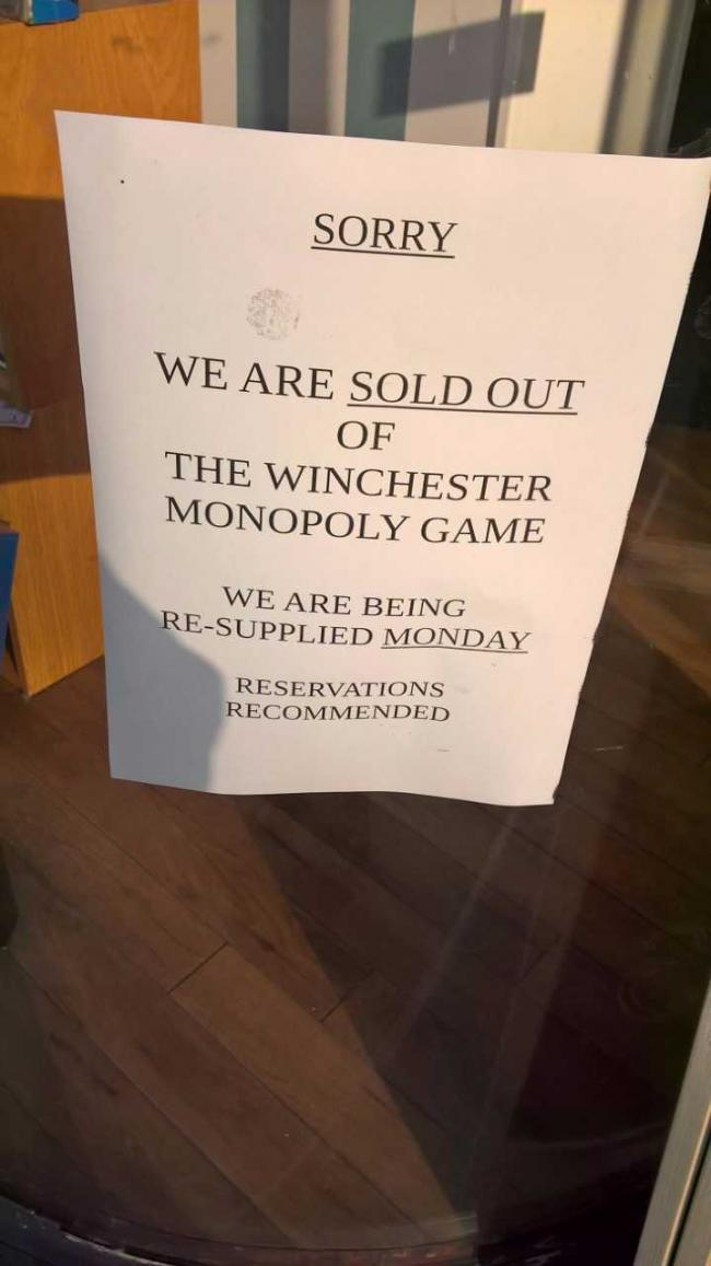 Winchester Monopoly a hit as store sells out | Hampshire Chronicle