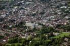 Winchester city centre from the sky