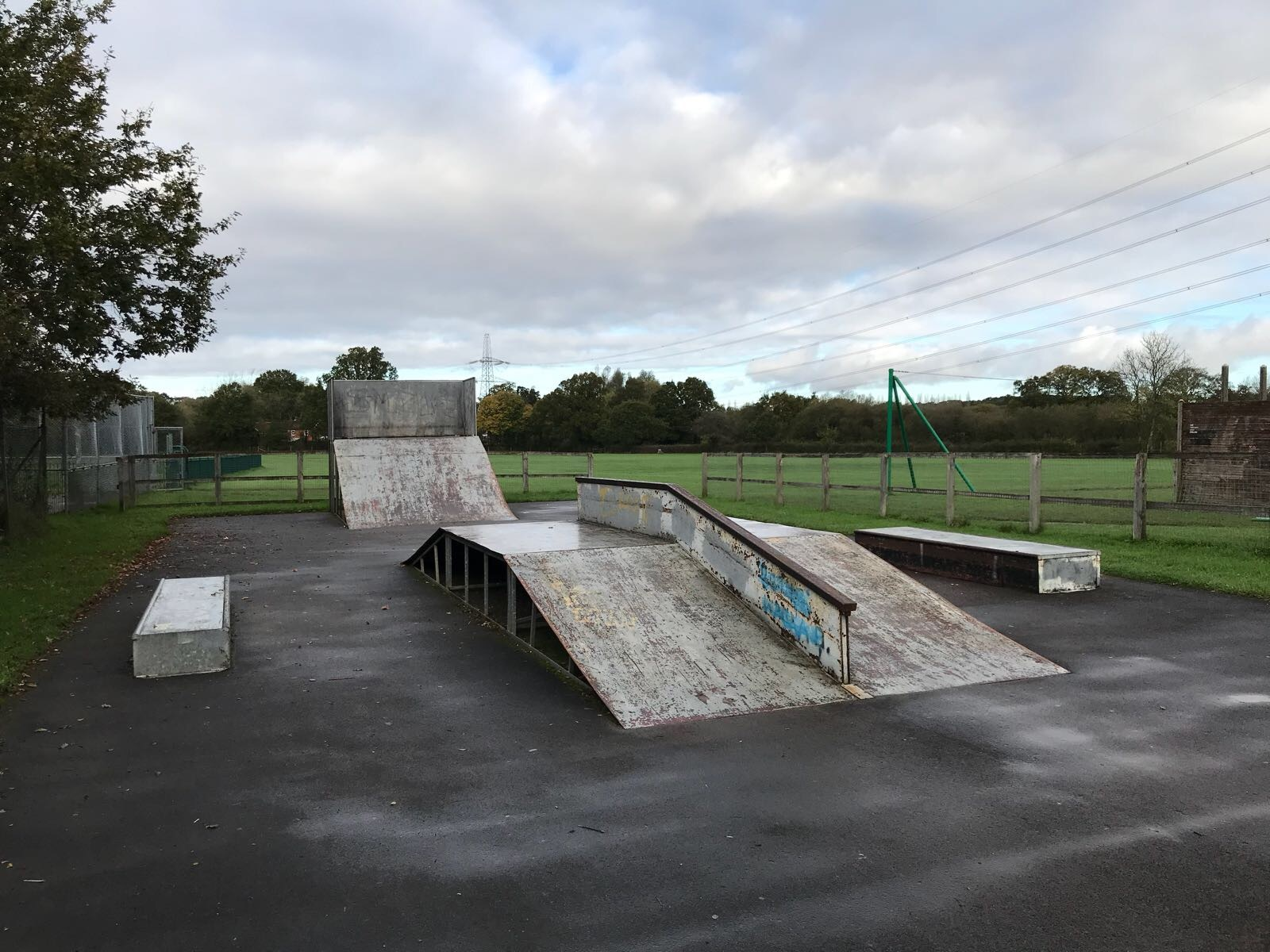 The current skate park at New Road