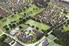 Chestnut Avenue Aerial Perspective for the complex to build in Eastleigh.