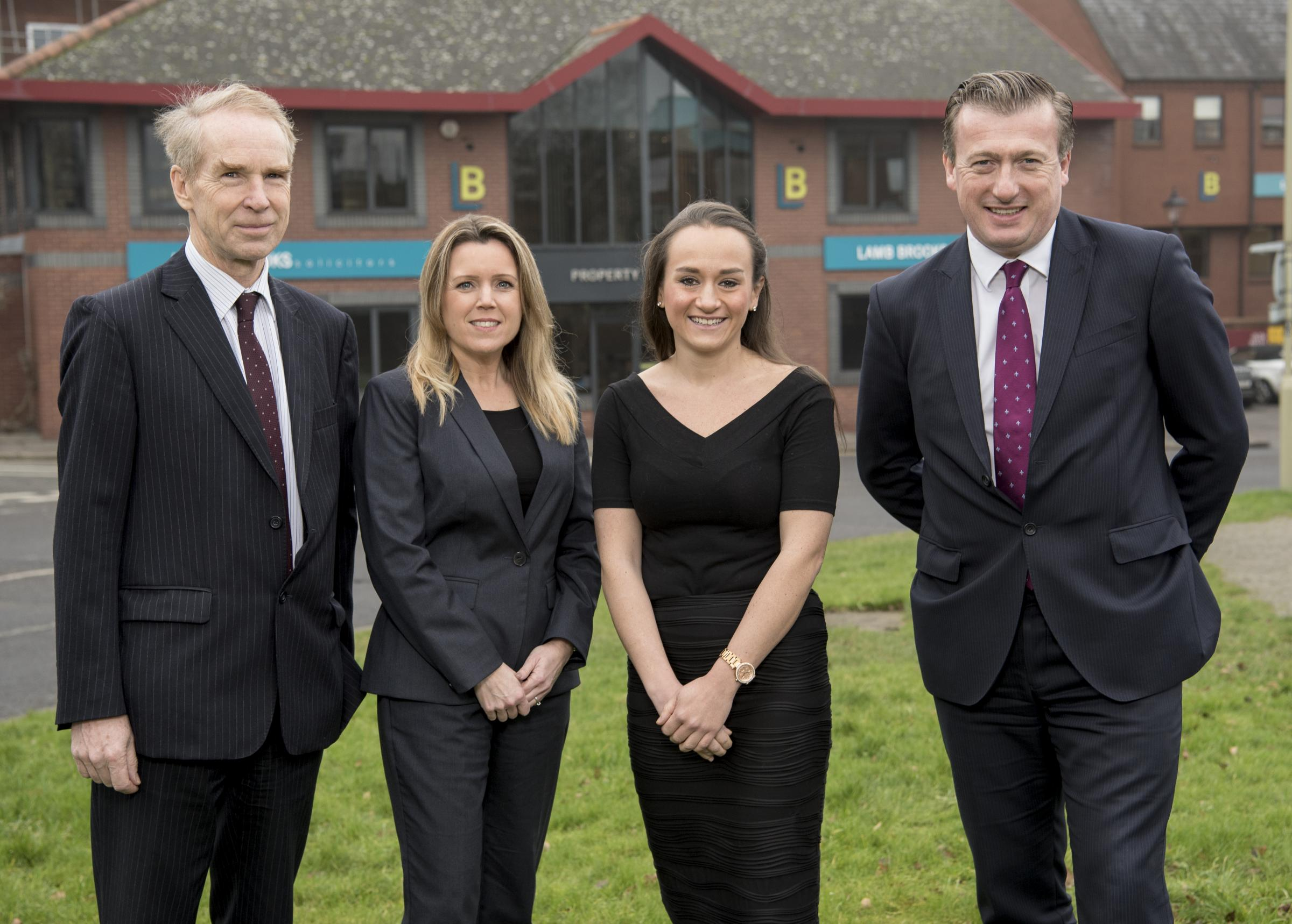 From left, Robert Finlayson, managing partner, Karen Bristow, head of employment, Sophie Keene, solicitor, and Andrew Lowe, managing partner