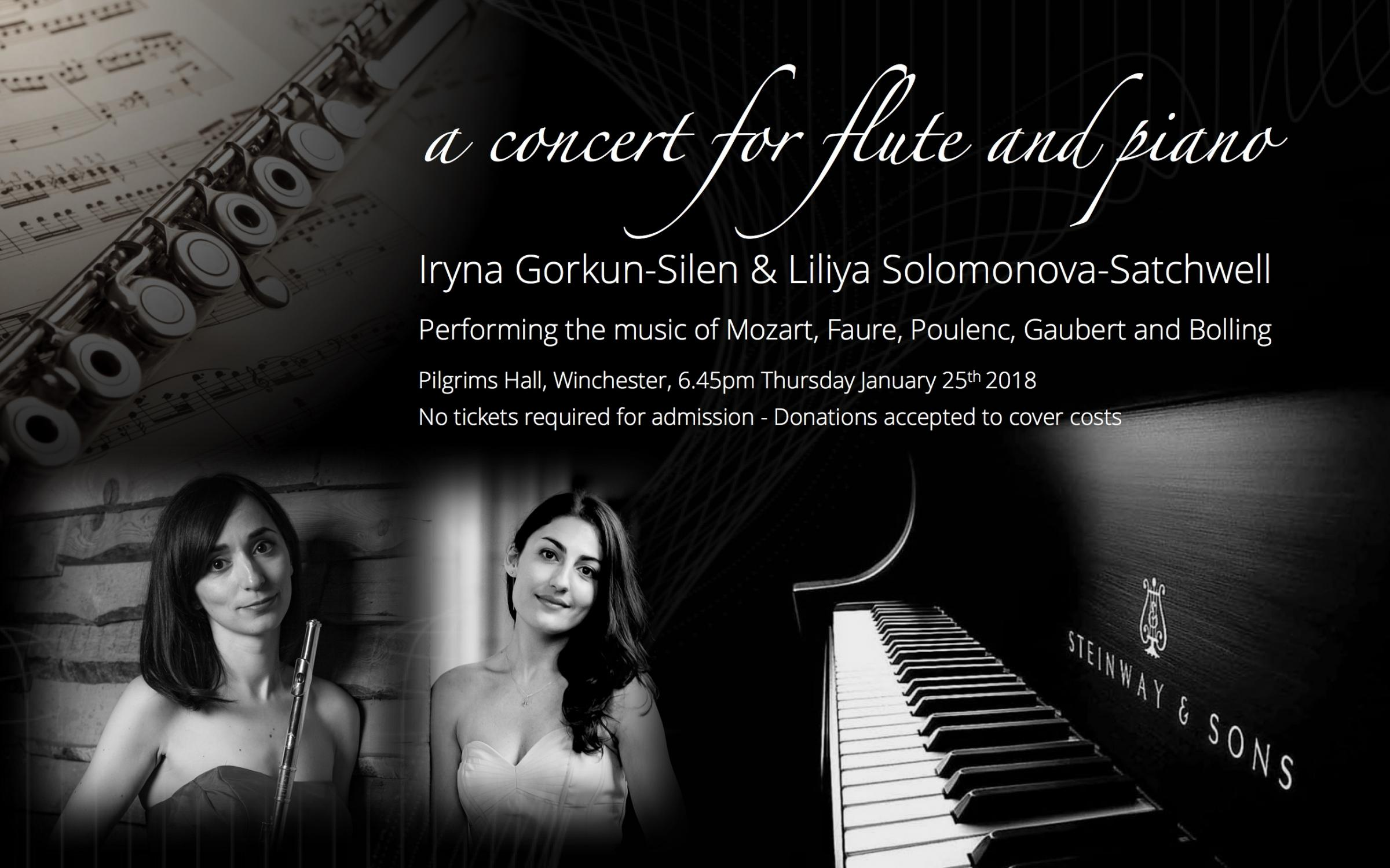 A concert for flute and piano