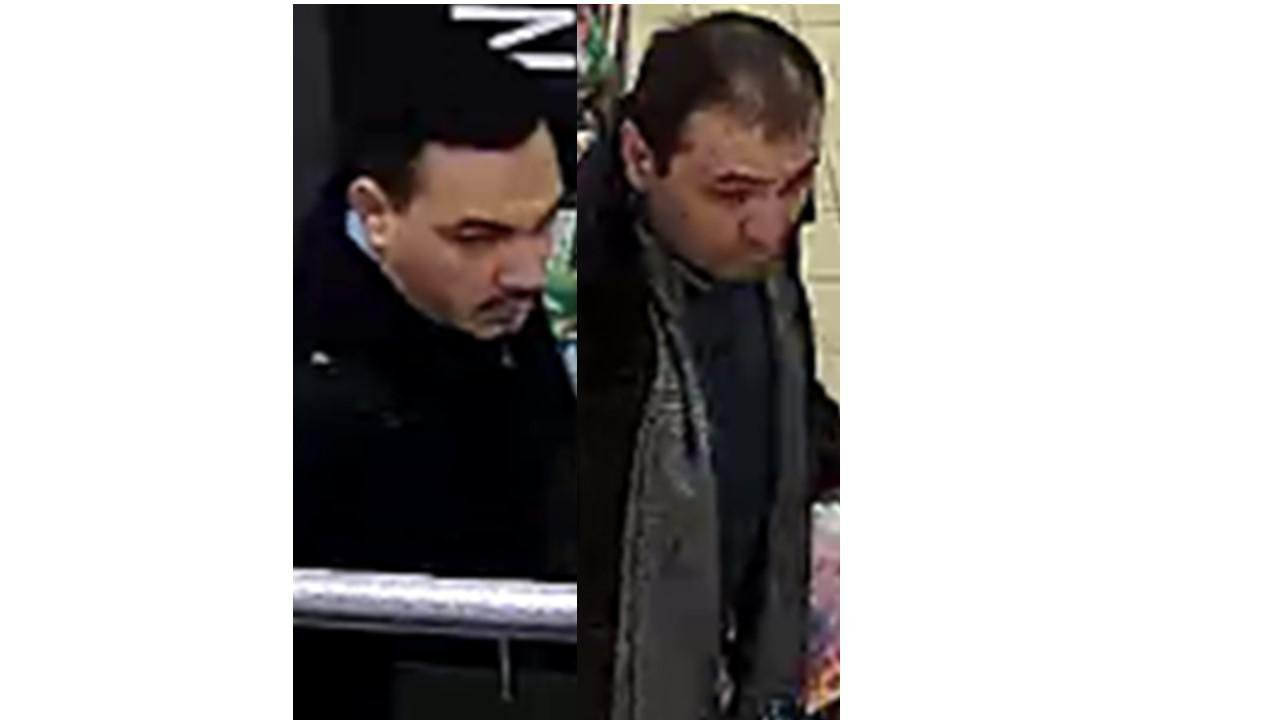 Police would like to speak to two men following a theft at Aldi in Burnett Close, Winchester