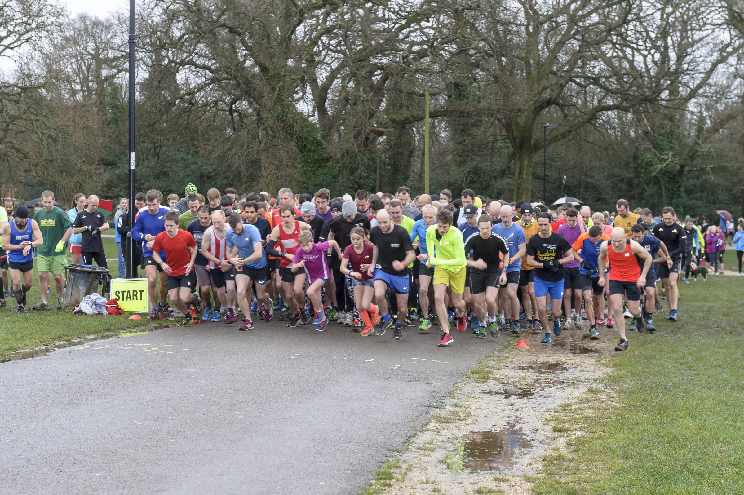 A parkrun event in Southampton