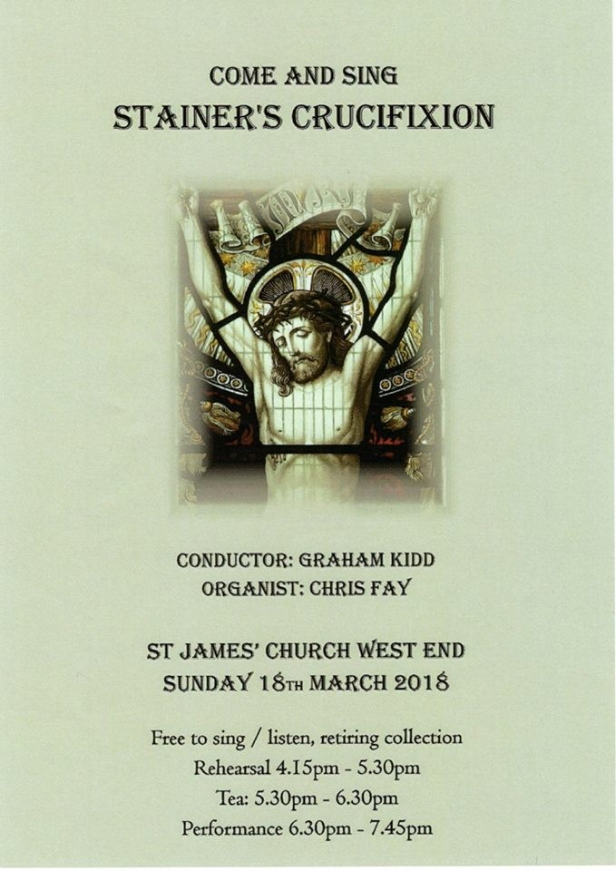 Stainer's Crucifixion 'come and sing' or 'come and listen'