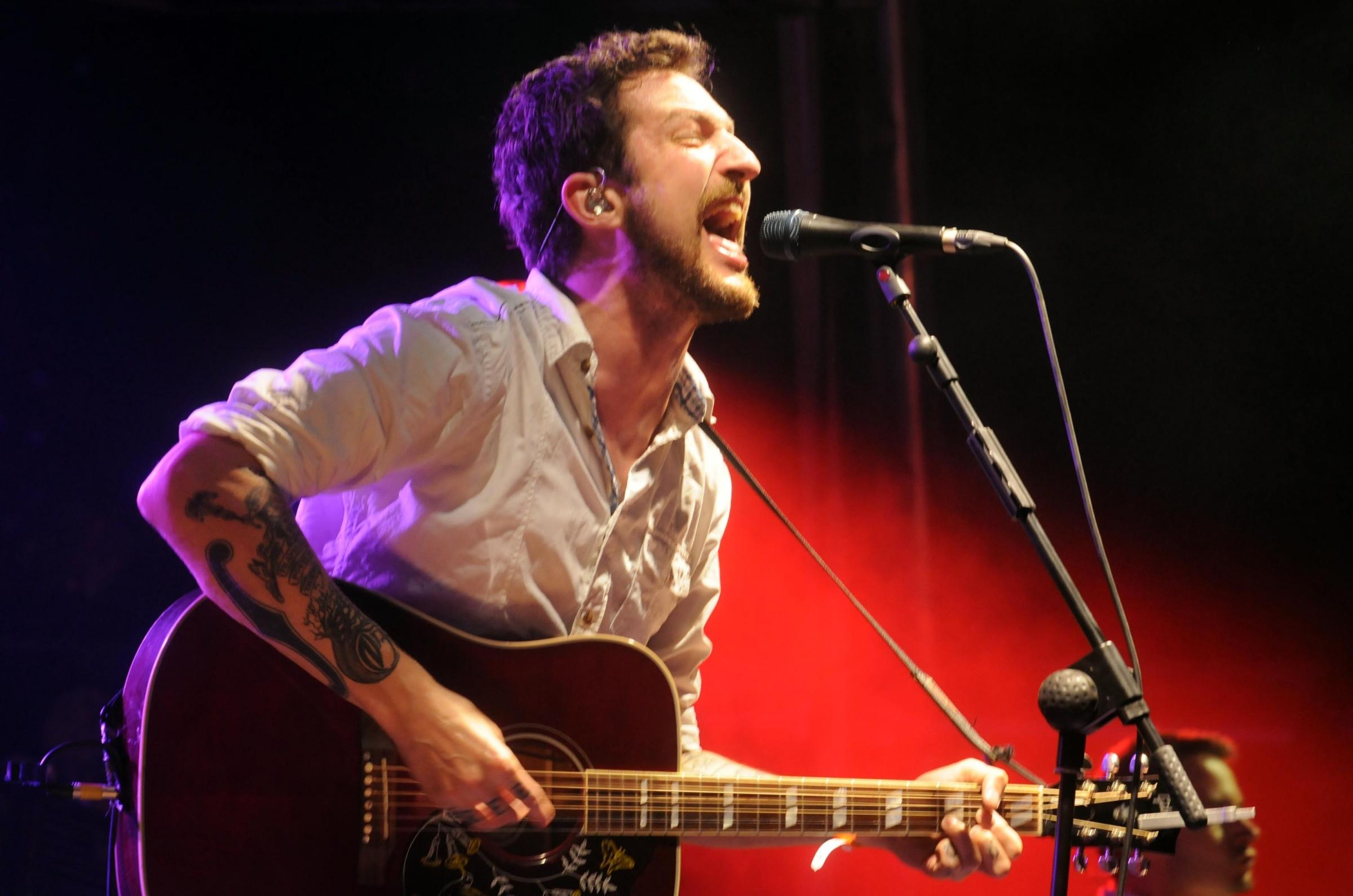 Larmer Tree Festival . DC5362P155....Frank Turner headlining the main stage of Friday.....picture Roger Elliott....18/07/2014.