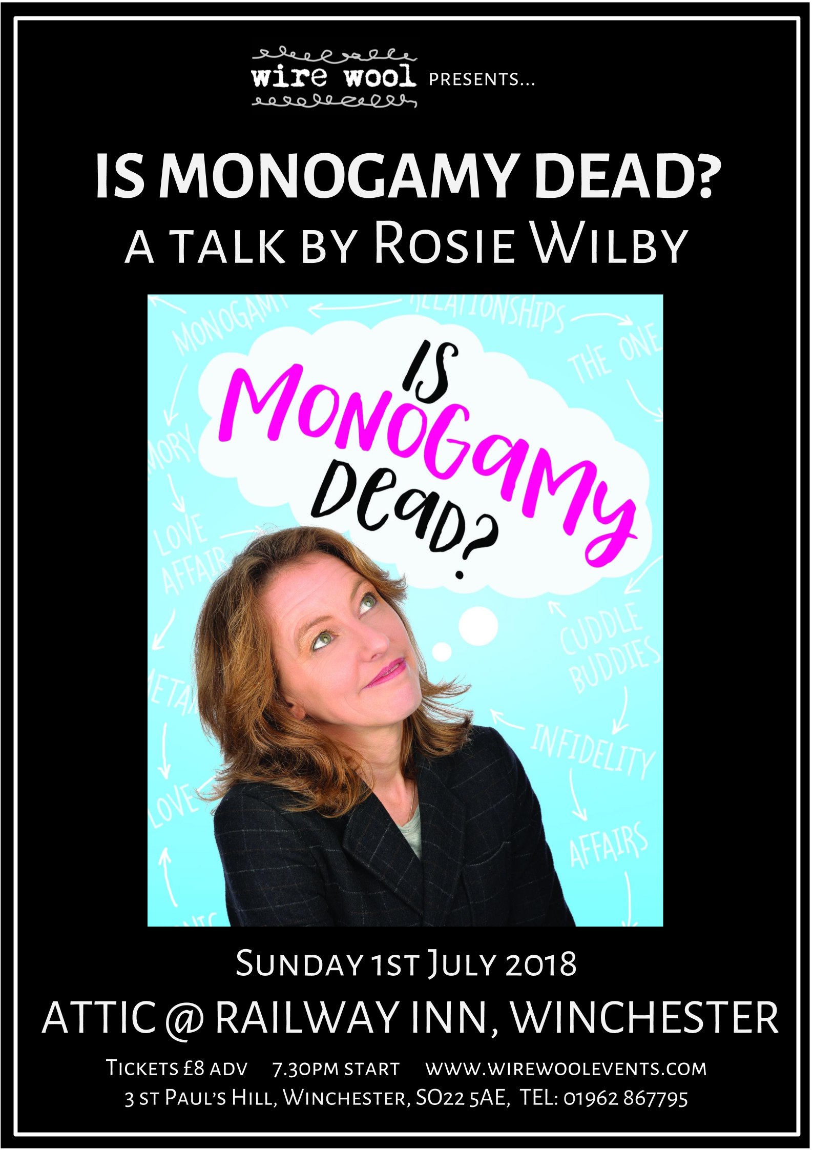 Is Monogamy Dead?: a talk by Rosie Wilby at Railway Winchester