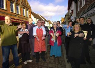 An earlier protest by Bishop's Waltham traders