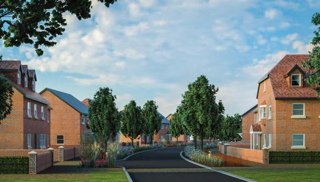 An illustration of the Albany Farm scheme in Bishop's Waltham. Photo: Pro Vision/ Rooster Marketing