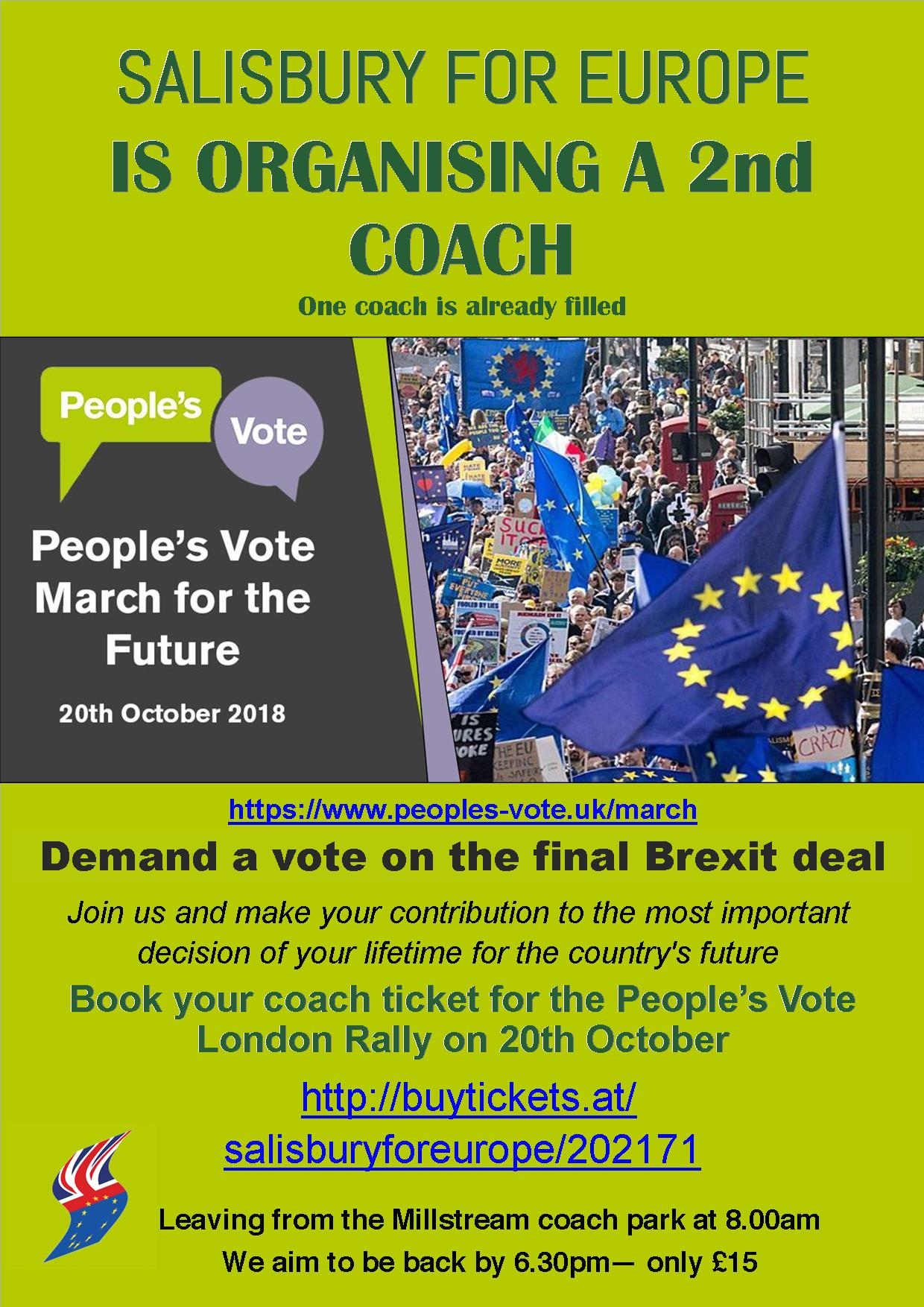COACH TO PEOPLE'S VOTE RALLY IN LONDON
