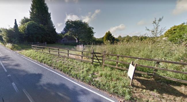 The plot of land where the homes would be built, off Alresford Road, Itchen Stoke. Photo: Google