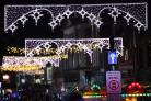 Christmas lights switch on, The Broadway, Winchester.            Picture by Chris Moorhouse           Thursday 16th November 2017.