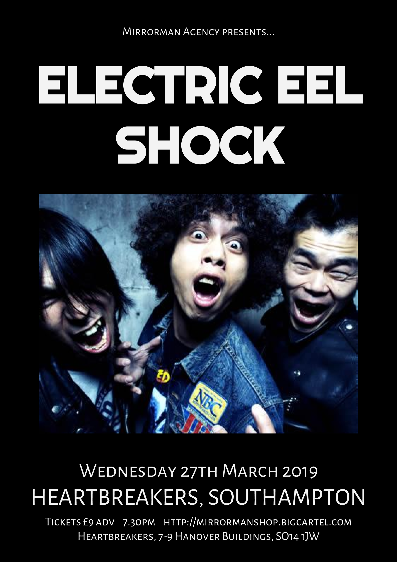 Electric Eel Shock at Heartbreakers, Southampton