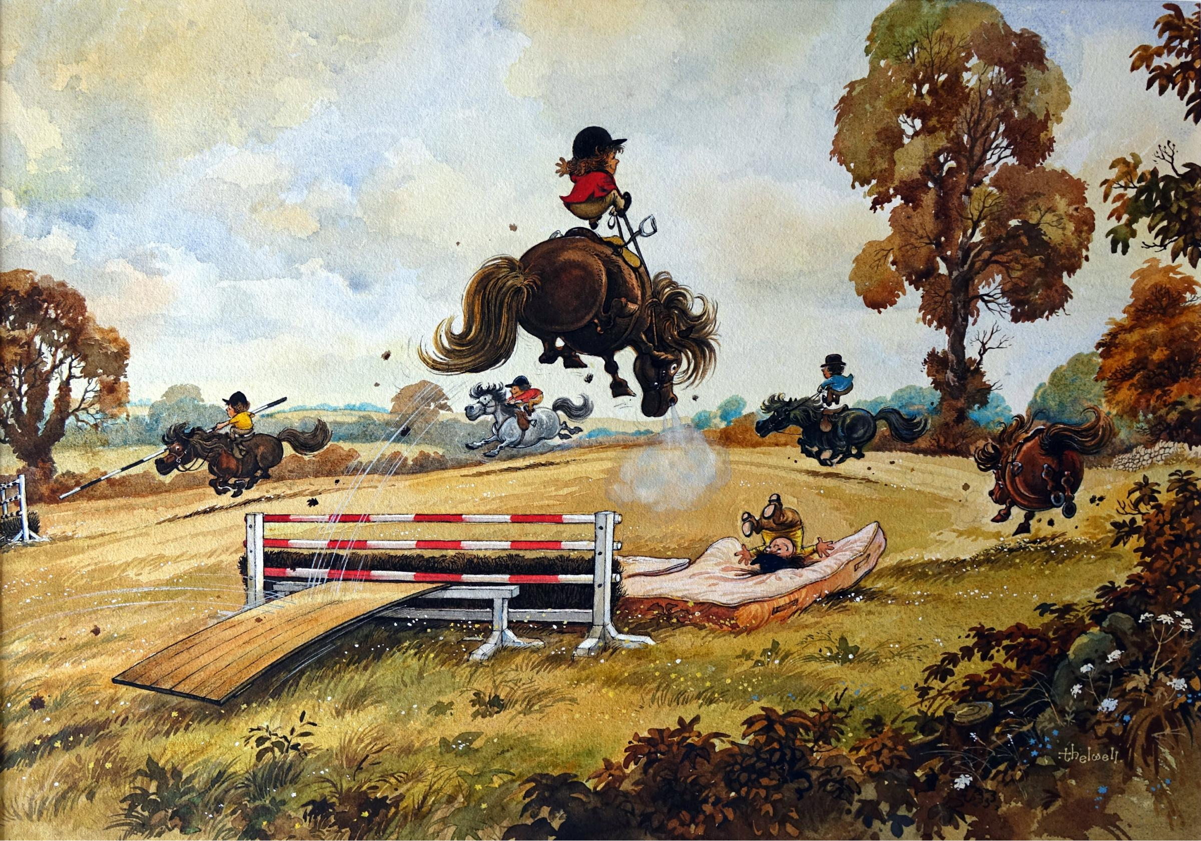 Thelwell: Laughter and Landscapes exhibition