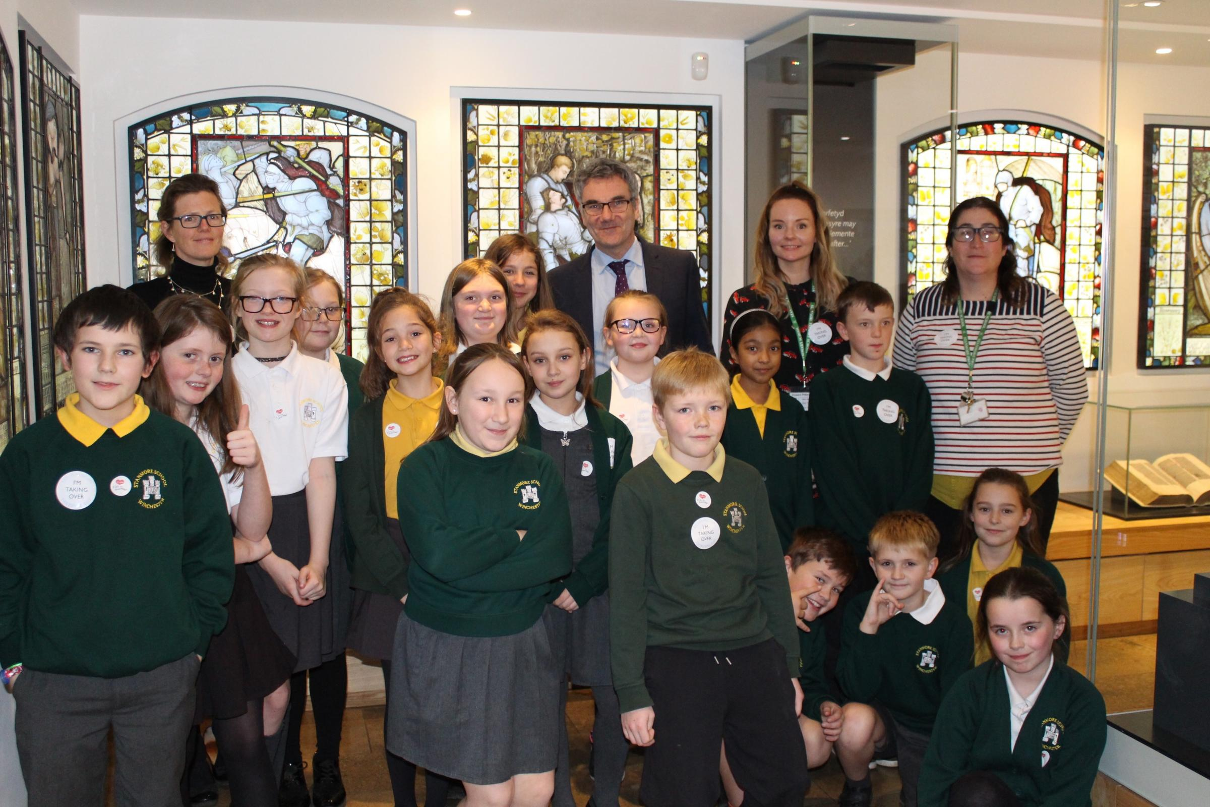 Stanmore Primary School pupils at Winchester College Treasury