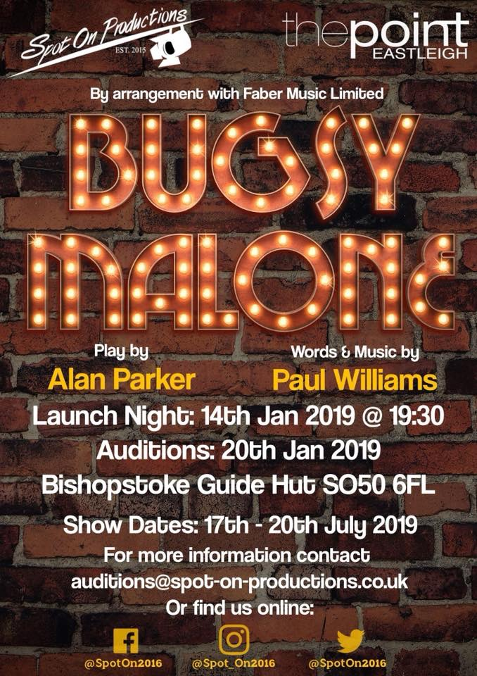 AUDITIONS - Bugsy Malone