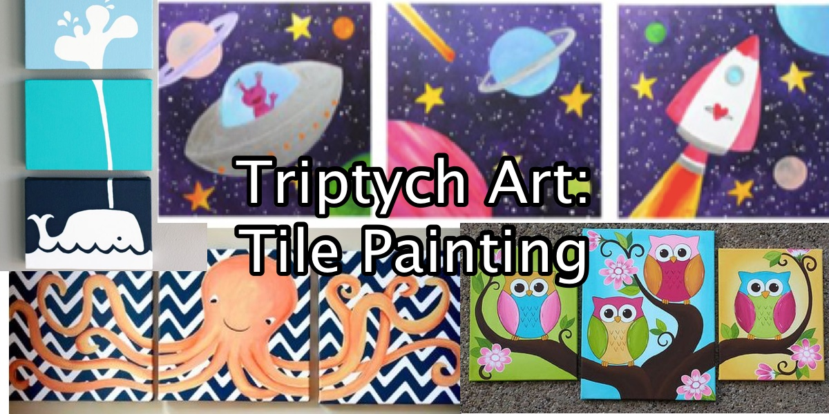 Saturday Art Club - Triptych Art Tile Painting