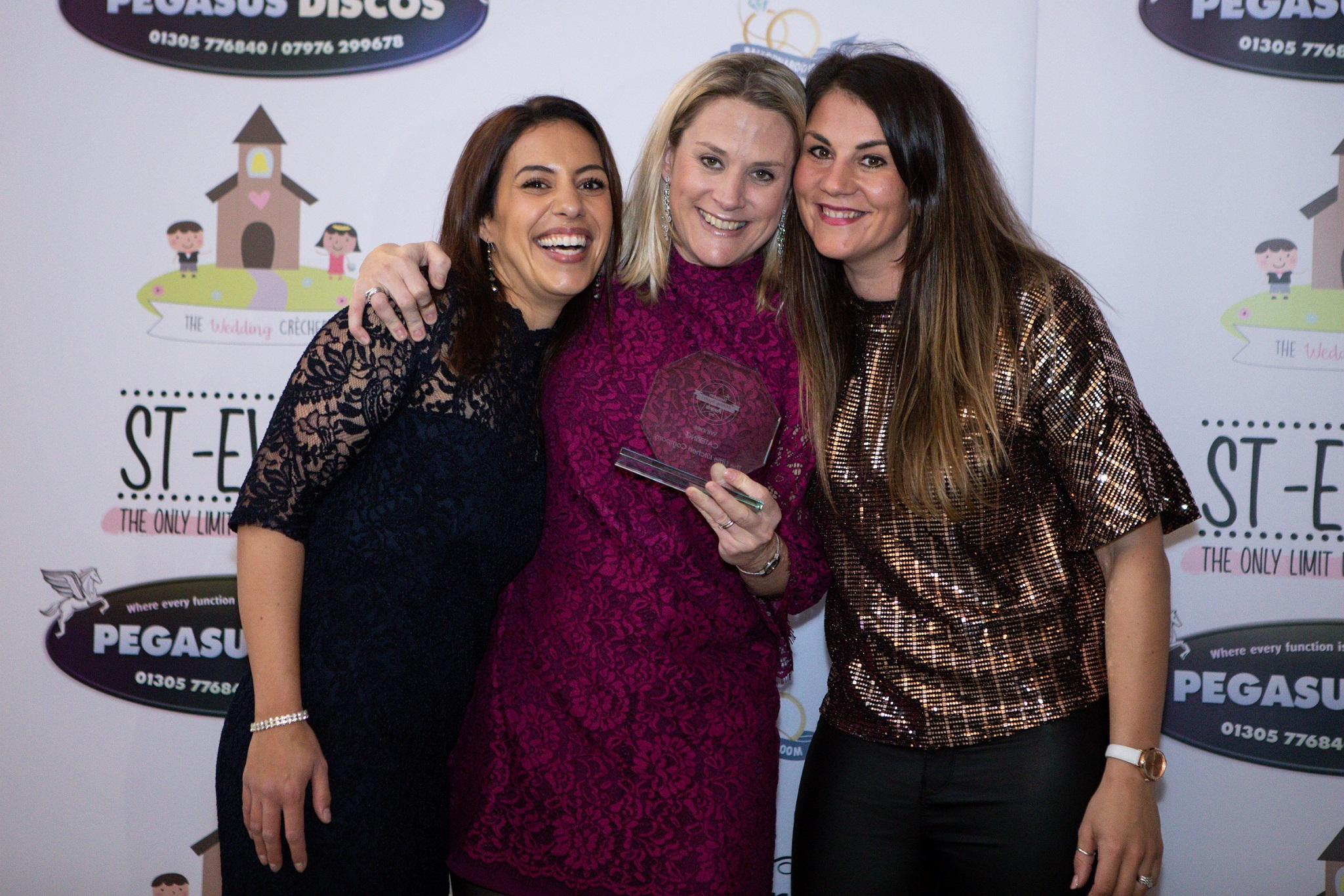 The Little Kitchen Company winners: Cait Salanson (middle) with employees Gemma Mills (left) and Victoria Stevens (right)