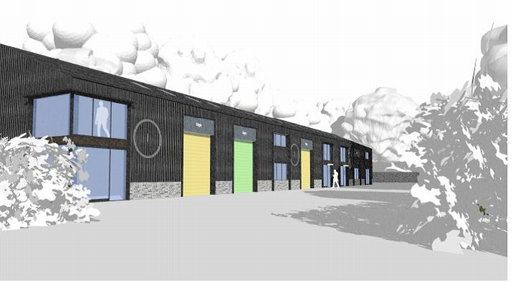 Design for new business unts at former council depot at Bishops Waltham.