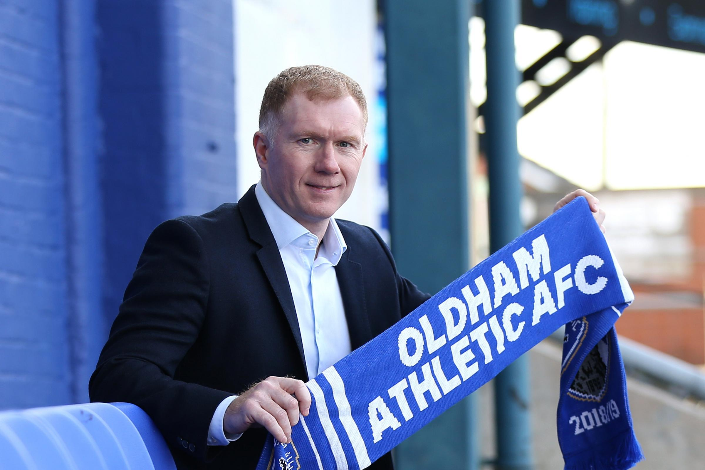 New Oldham manager Paul Scholes is ready for the criticism which may come his way from pundits