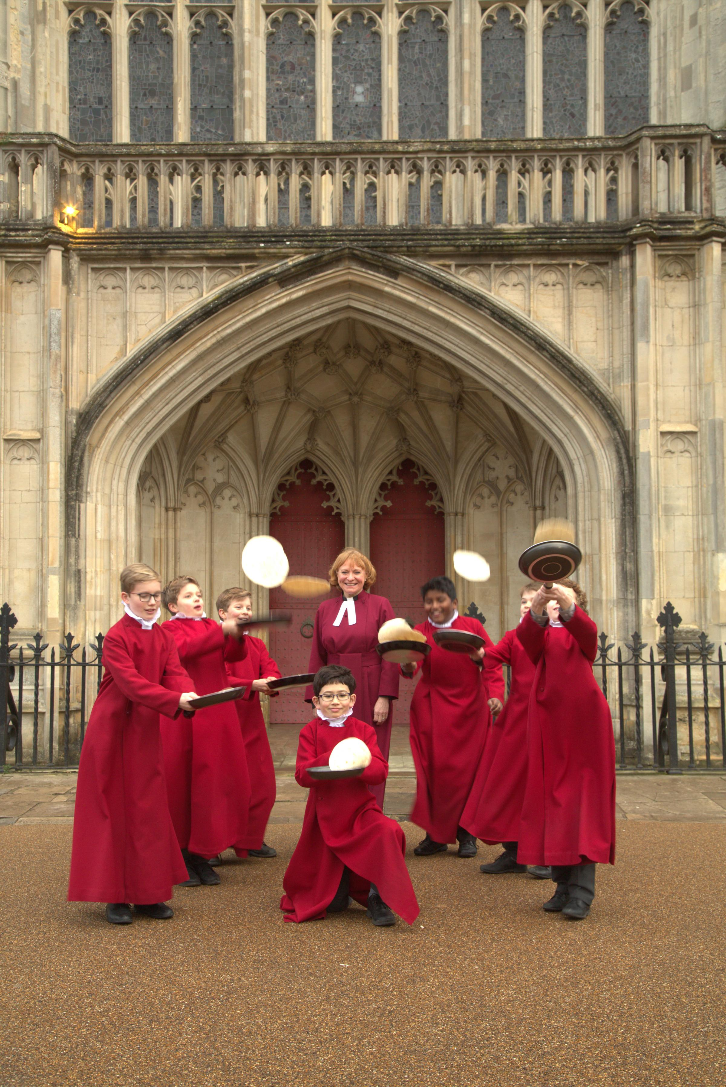 Winchester Cathedral Pancake Race
