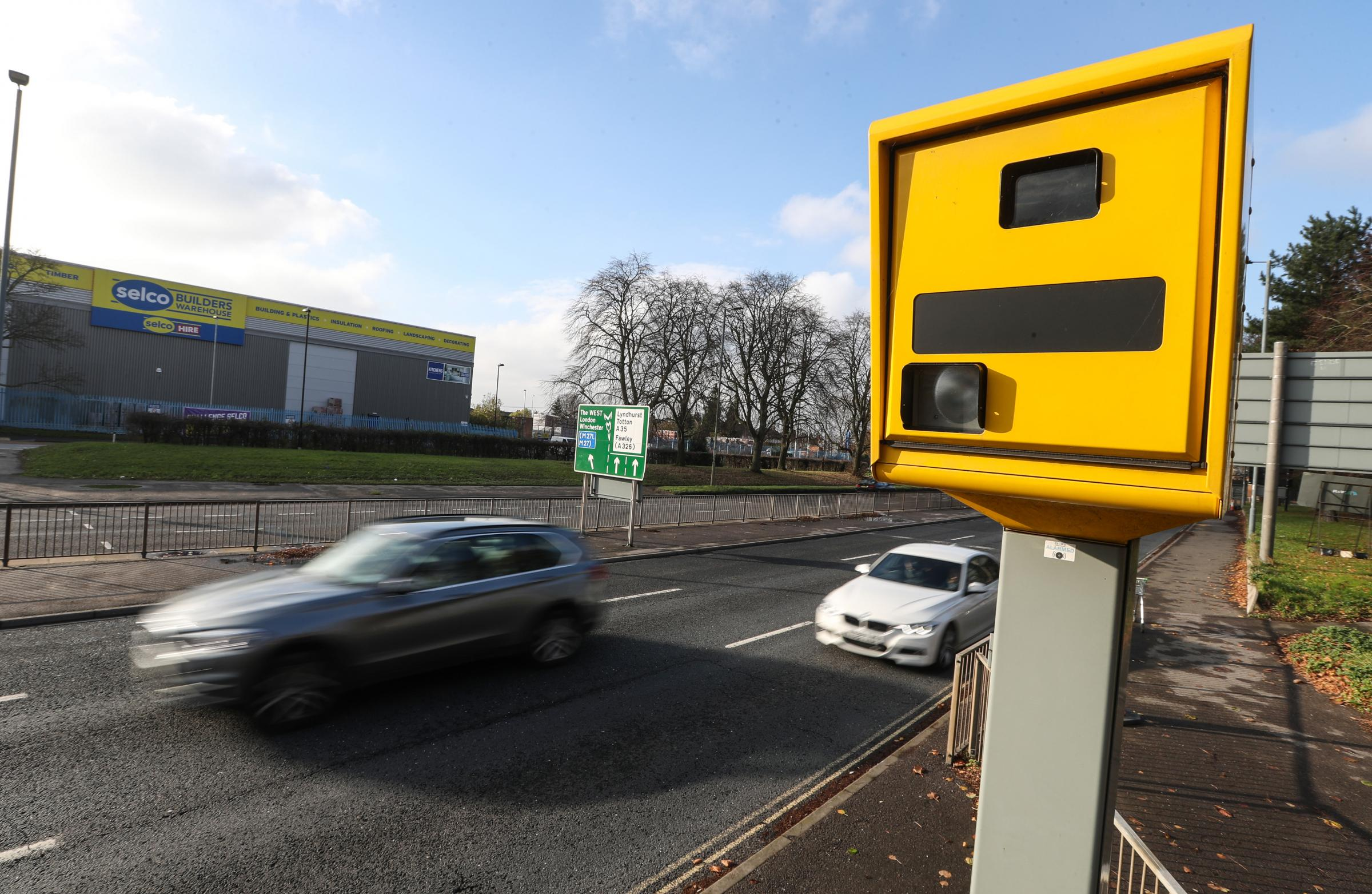 Stock pic of a speed camera in operation