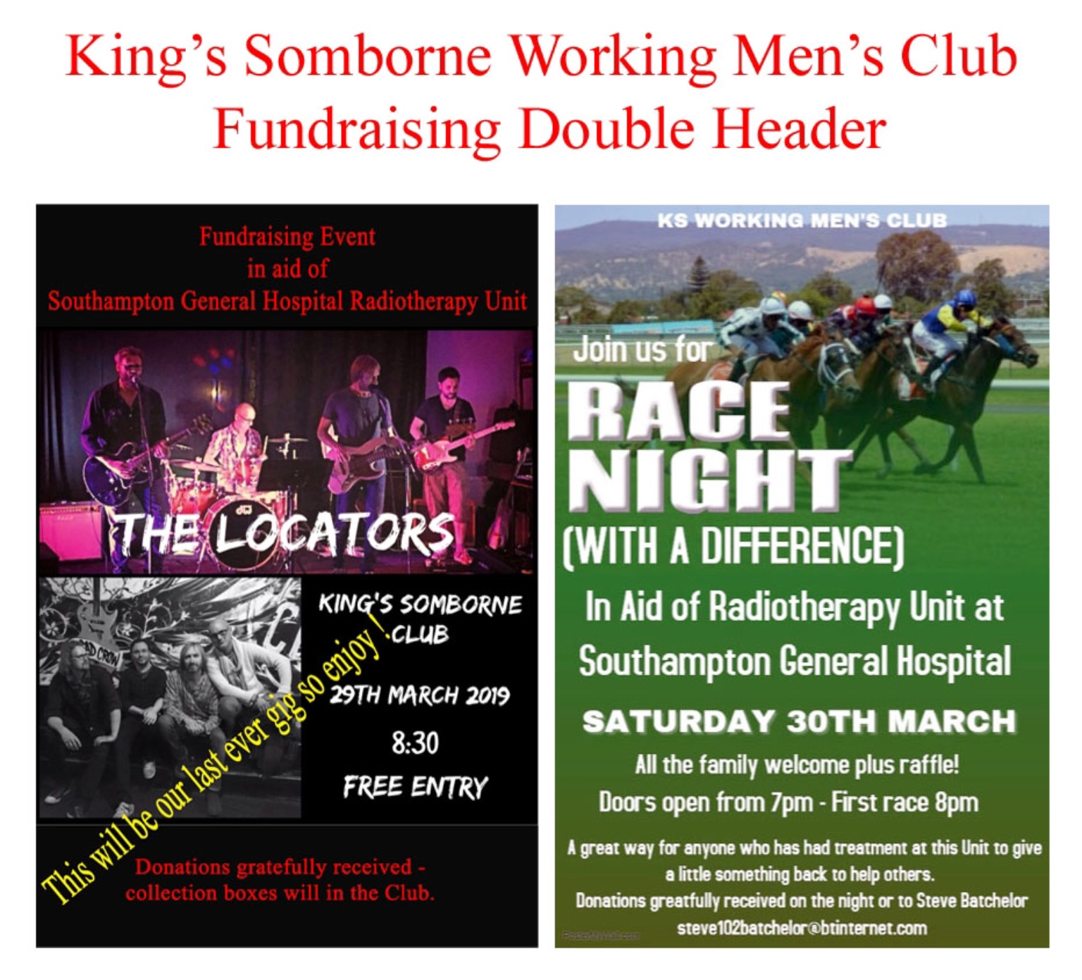 Fundraising Double Header