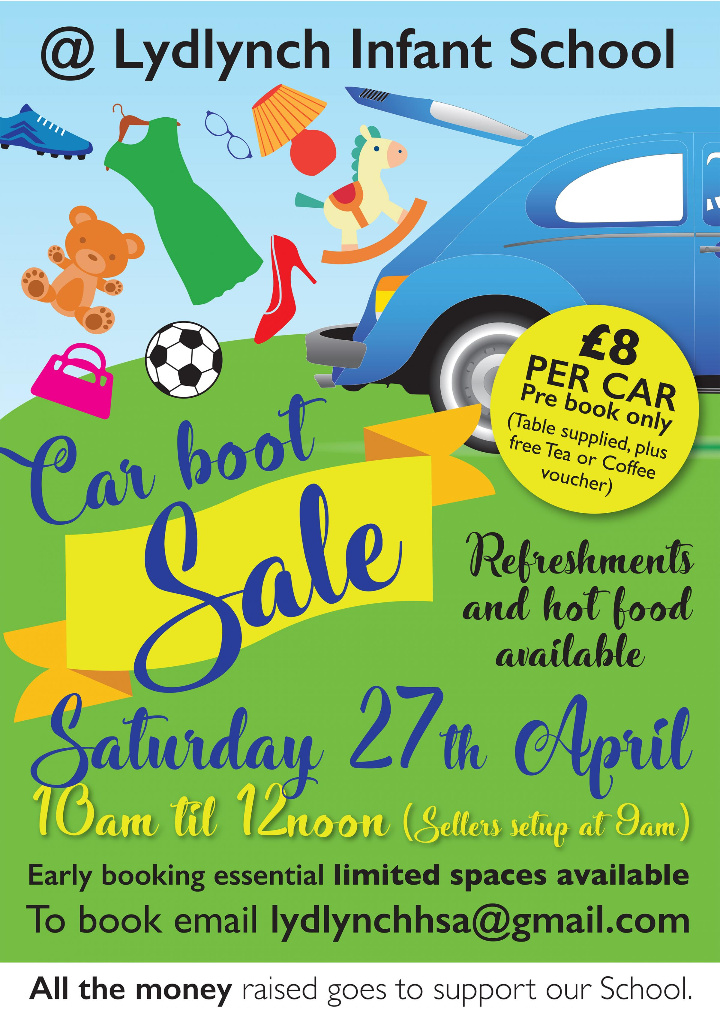 Lydlynch Infant School Car Boot Sale