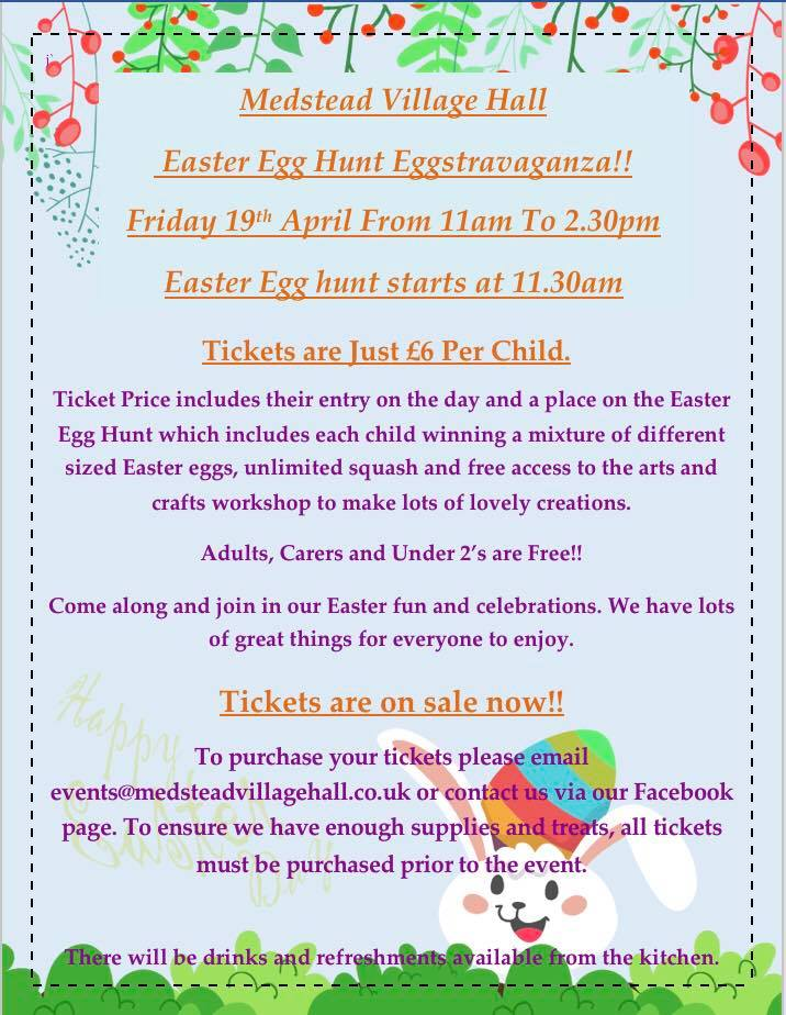 Medstead Village Hall Easter Egg Hunt Eggstravaganza