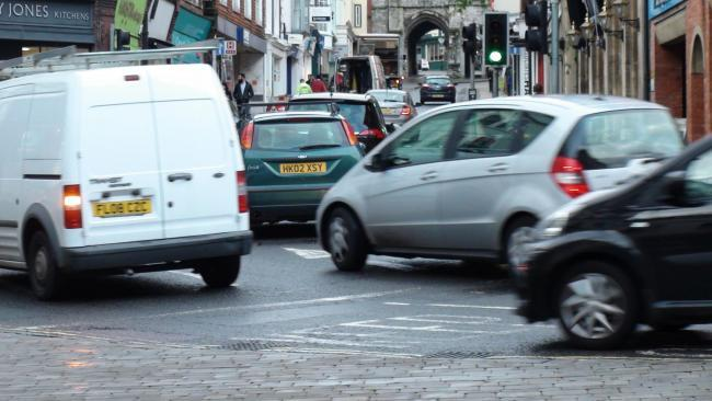 Traffic in Winchester, stock picture.
