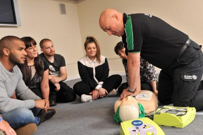 St John's Ambulance CPR and defibrillator training