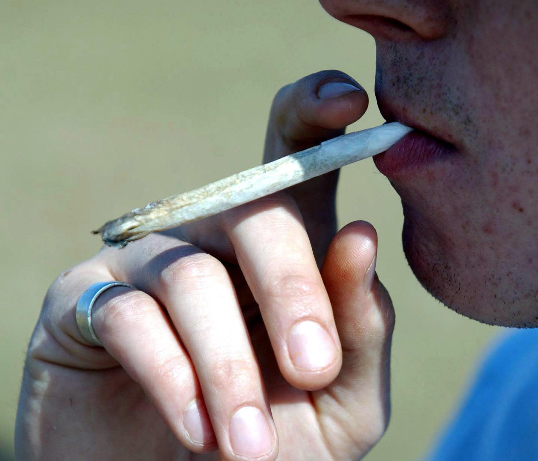 Undated PA file photo of a cannabis joint.